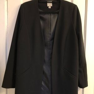 Halogen Open Front Long Blazer / Topcoat